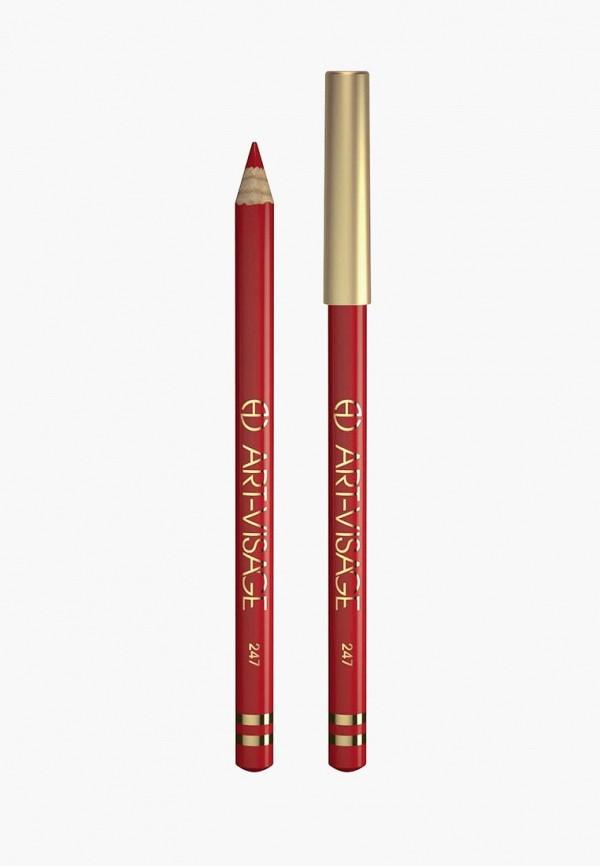 карандаш для губ art-visage, красный