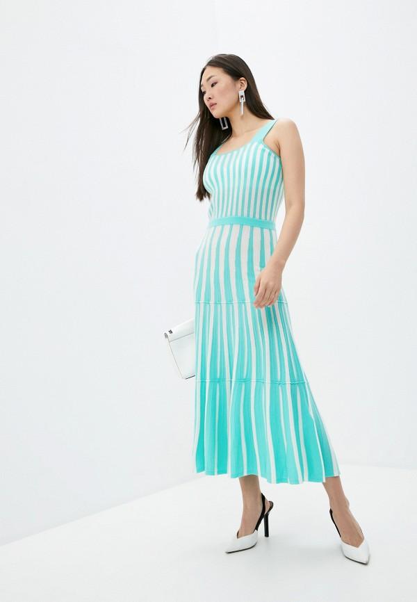 женское повседневные платье arch4, бирюзовое