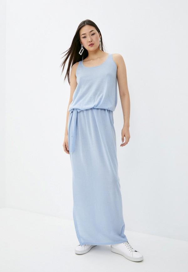 женское повседневные платье arch4, голубое