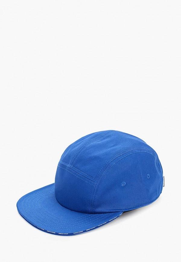 женская бейсболка asics tiger, синяя