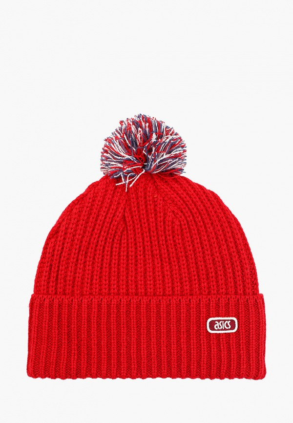 женская шапка asics, красная