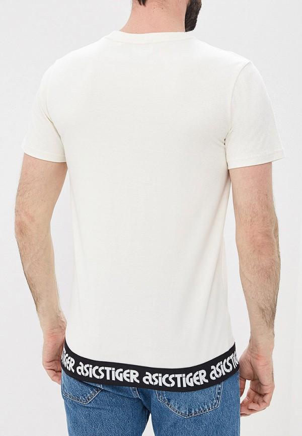 Фото 3 - мужскую футболку ASICS белого цвета