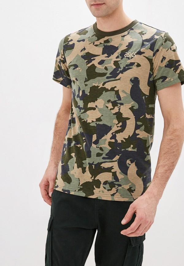мужская футболка asics, хаки