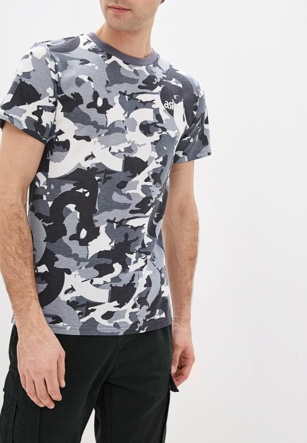 мужская футболка asics, серая
