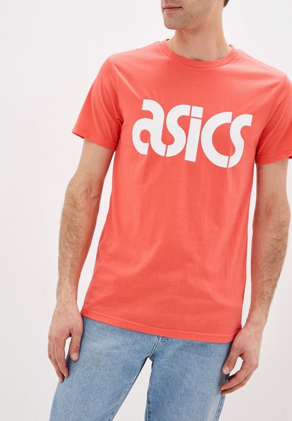 мужская футболка asics, розовая