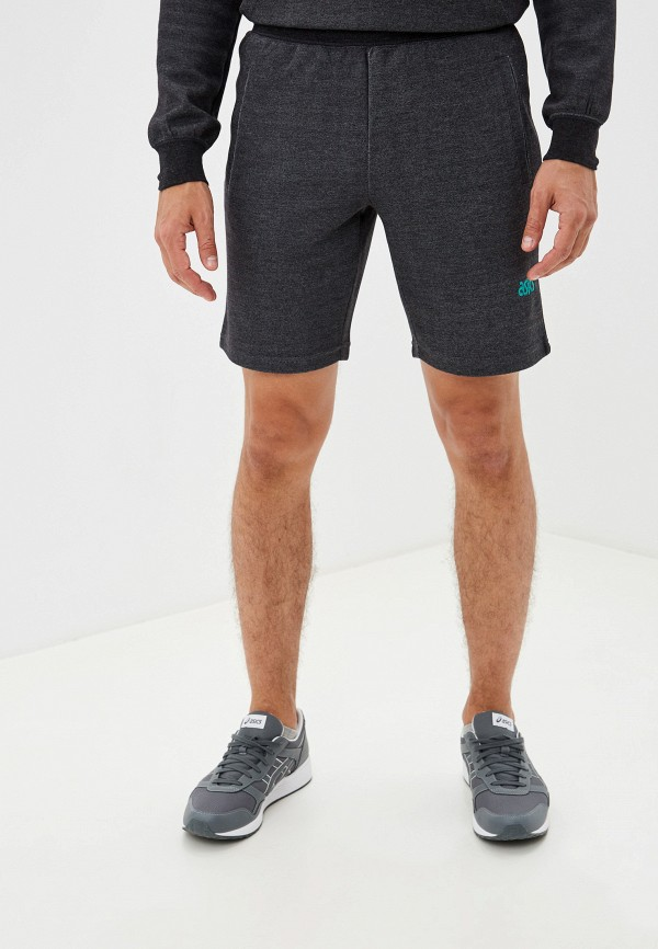 мужские спортивные спортивные шорты asics tiger, серые