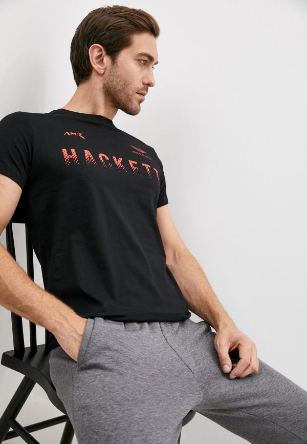 мужская футболка aston martin racing by hackett, черная