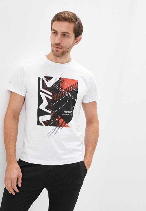 мужская футболка aston martin racing by hackett, белая