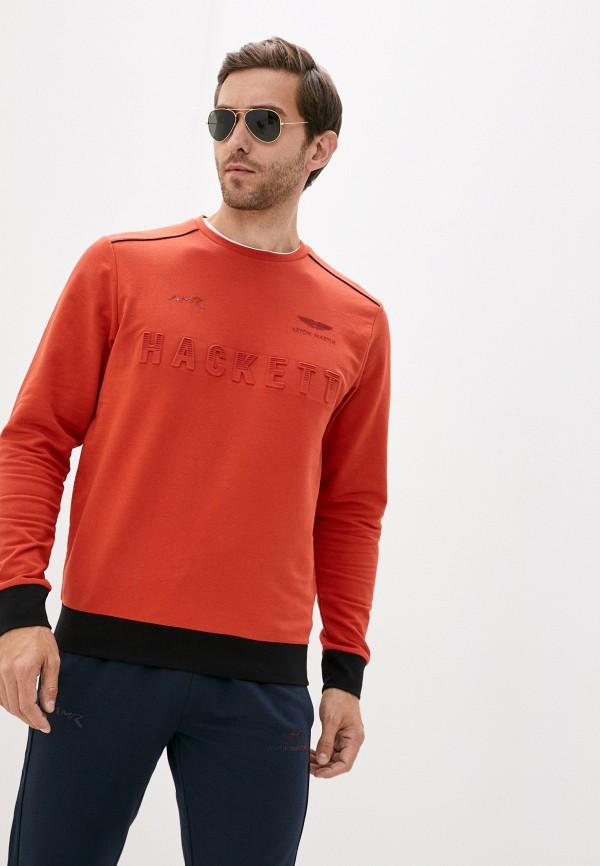 мужской свитшот aston martin racing by hackett, оранжевый