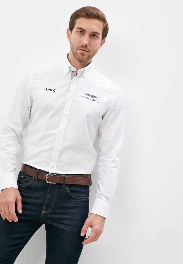 мужская рубашка с длинным рукавом aston martin racing by hackett, белая