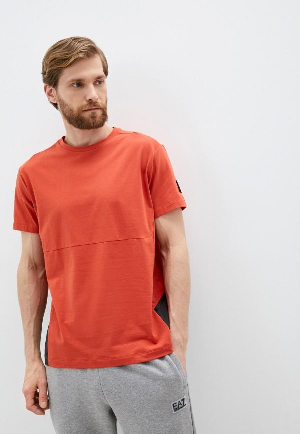 мужская спортивные футболка aston martin racing by hackett, оранжевая