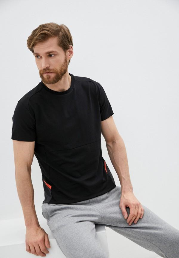 мужская спортивные футболка aston martin racing by hackett, черная