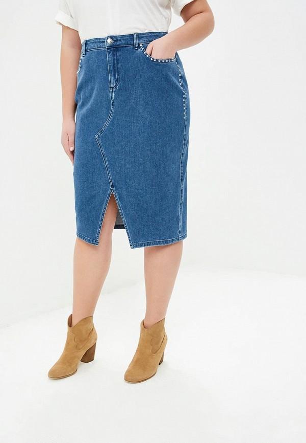 женская юбка ashley graham x marina rinaldi, синяя
