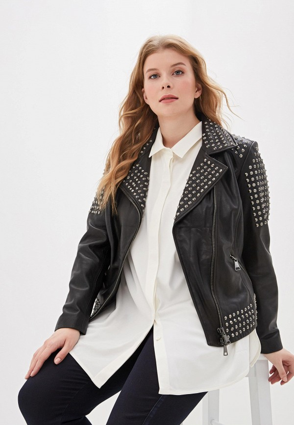 купить Куртка кожаная Ashley Graham x Marina Rinaldi Ashley Graham x Marina Rinaldi AS013EWFMTF2 дешево