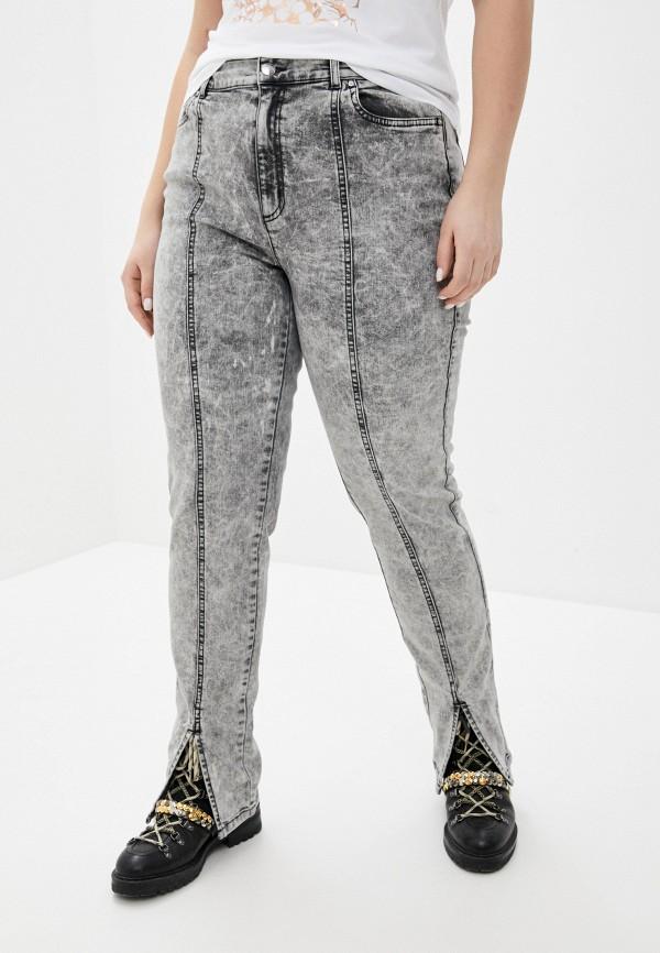 женские джинсы скинни ashley graham x marina rinaldi, серые