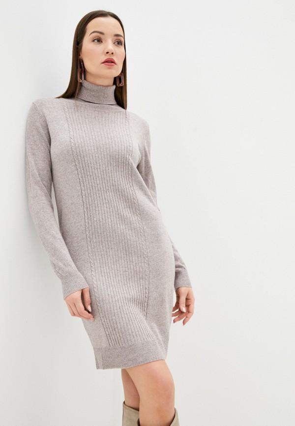 женское платье assuili, бежевое