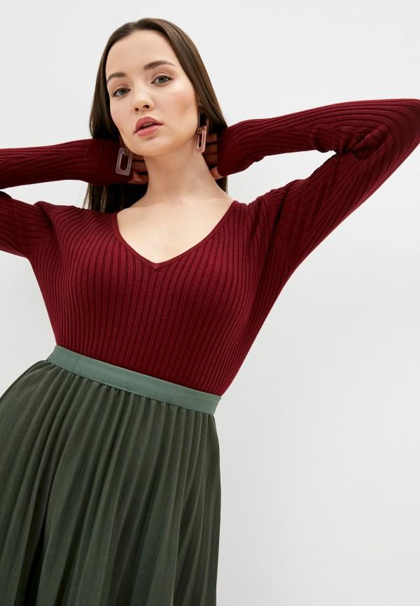 женский пуловер assuili, бордовый