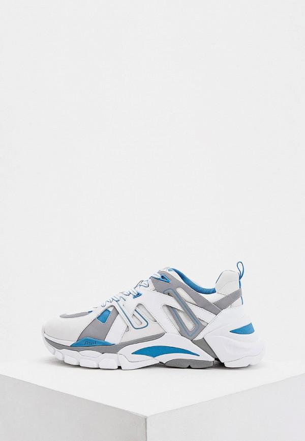 мужские низкие кроссовки ash, голубые