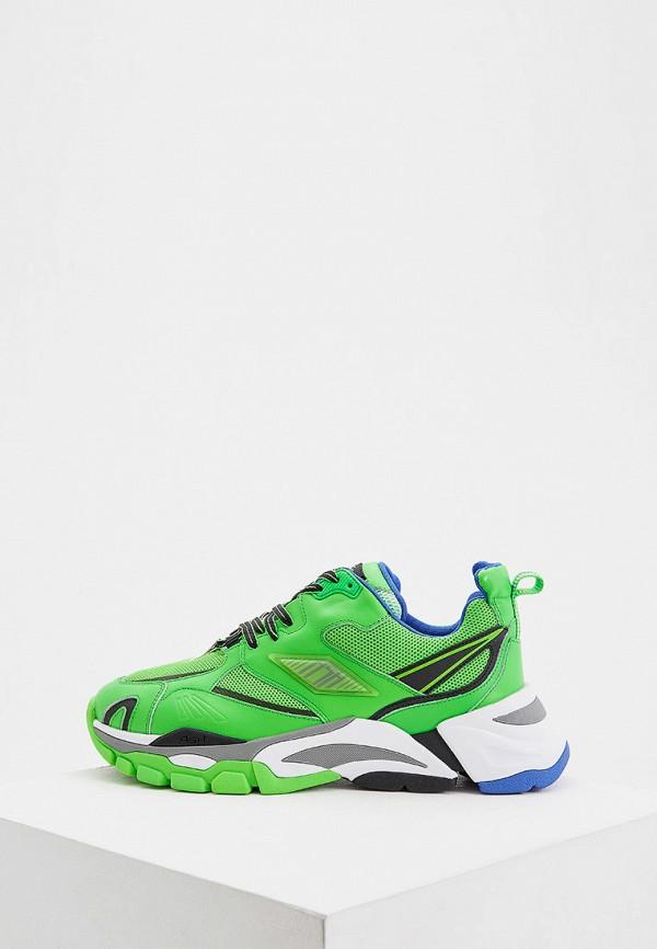 мужские низкие кроссовки ash, зеленые