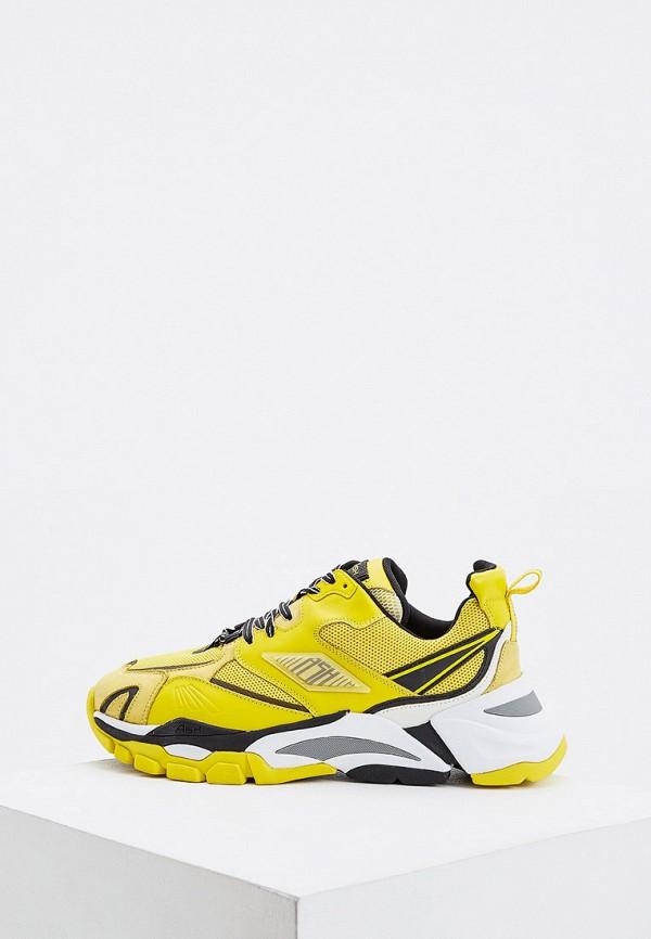 мужские низкие кроссовки ash, желтые