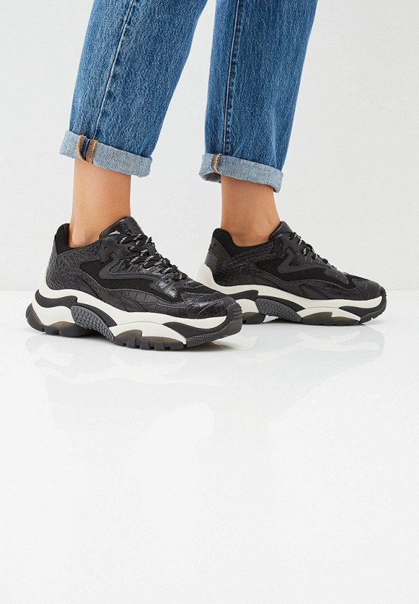 Фото 6 - женские кроссовки Ash черного цвета