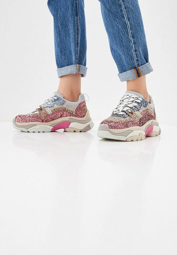 Фото 6 - женские кроссовки Ash розового цвета