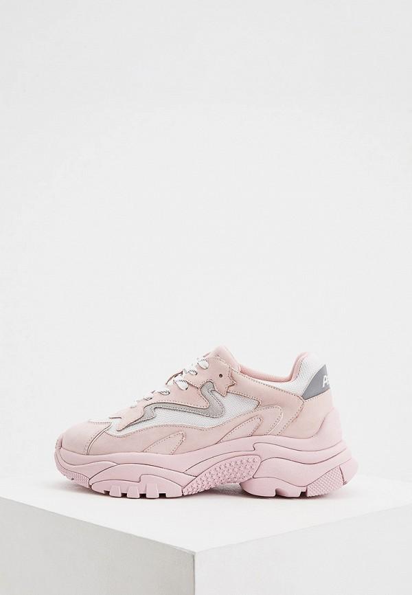 женские низкие кроссовки ash, розовые