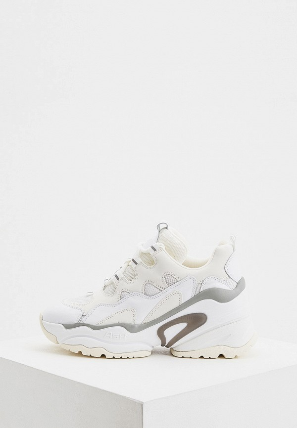 женские низкие кроссовки ash, белые