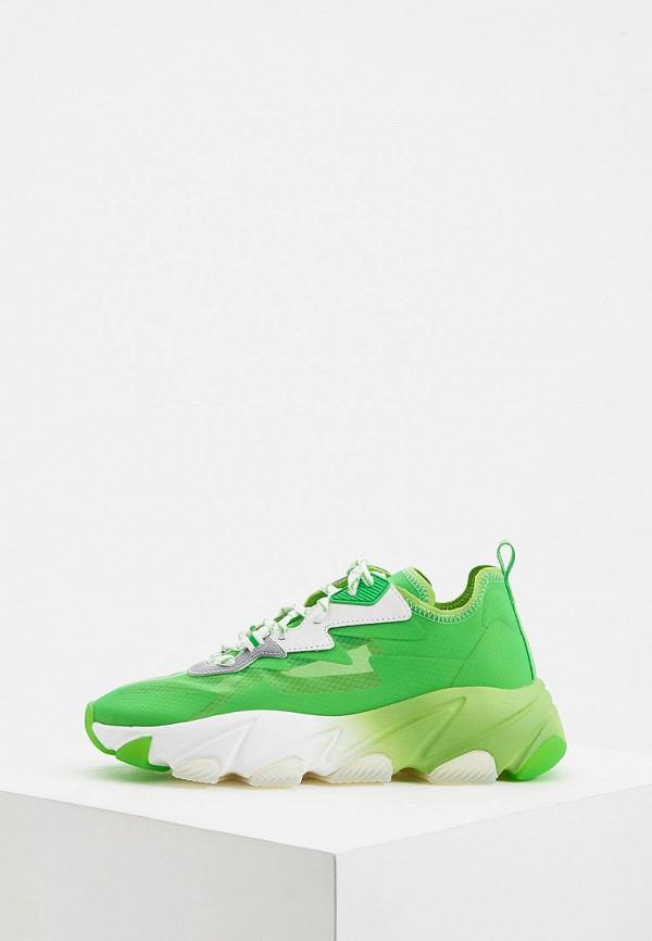 женские низкие кроссовки ash, зеленые