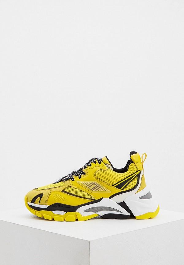 женские низкие кроссовки ash, желтые