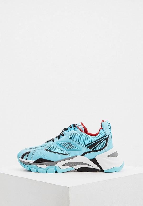 женские кроссовки ash, голубые