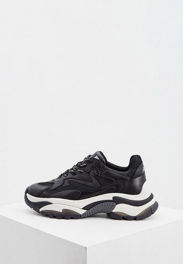 женские низкие кроссовки ash, черные