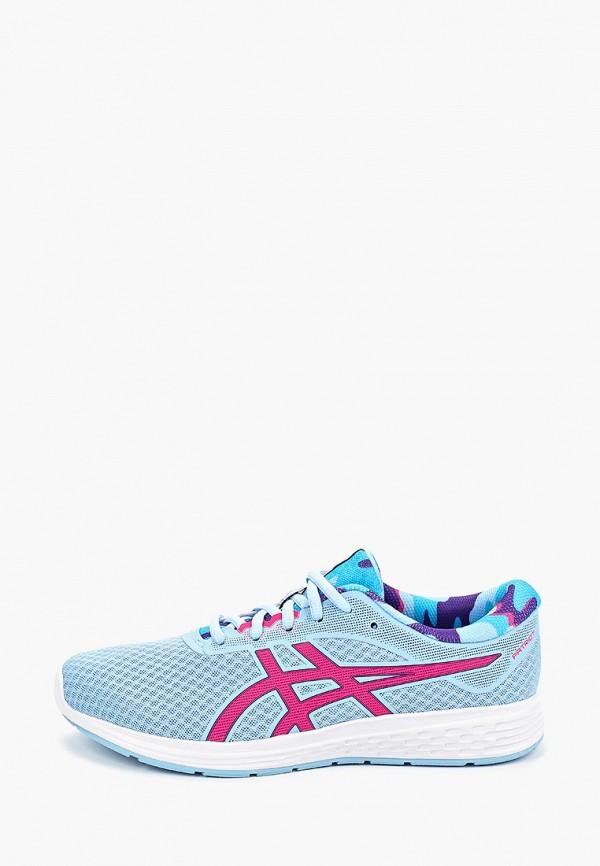 кроссовки asics для девочки, голубые
