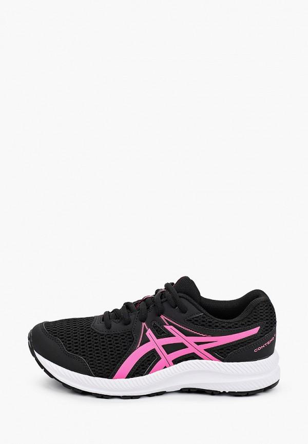 кроссовки asics для девочки, черные