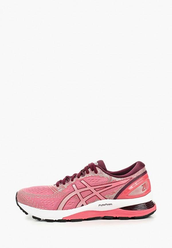 женские кроссовки asics, розовые