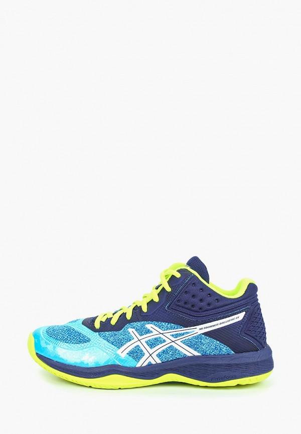 женские кроссовки asics, синие