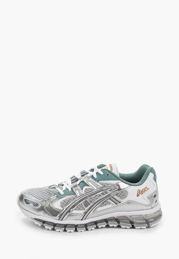 женские кроссовки asics, серебряные