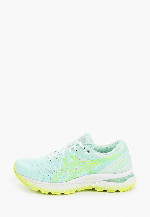 женские кроссовки asics, зеленые