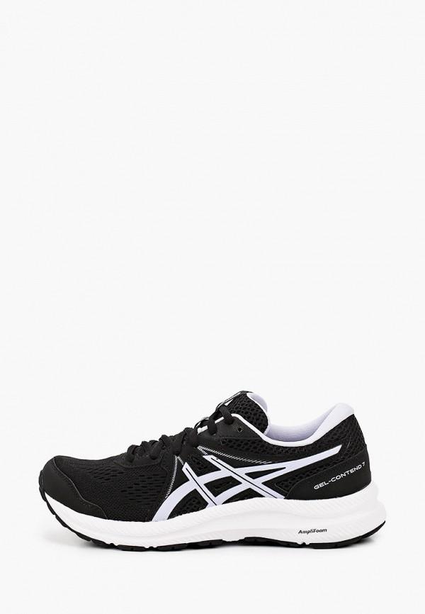 женские низкие кроссовки asics, черные