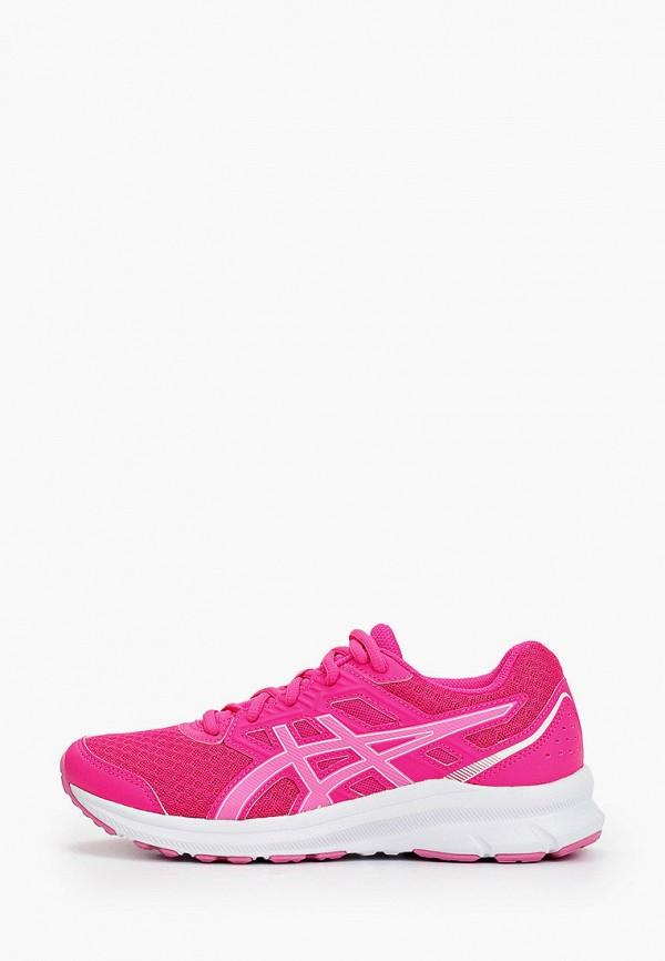 женские низкие кроссовки asics, розовые
