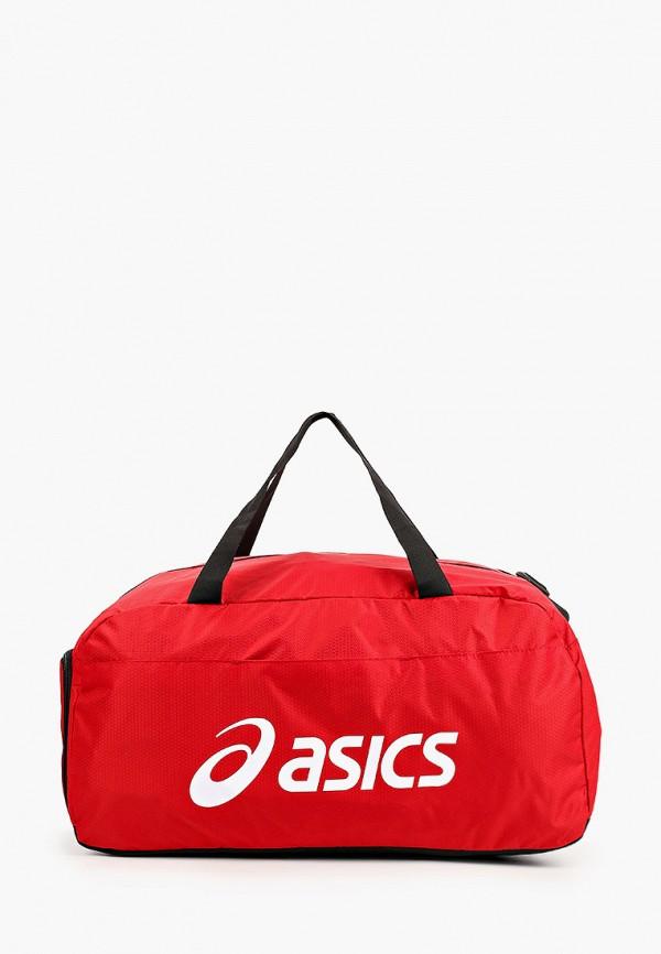 женская спортивные сумка asics, красная