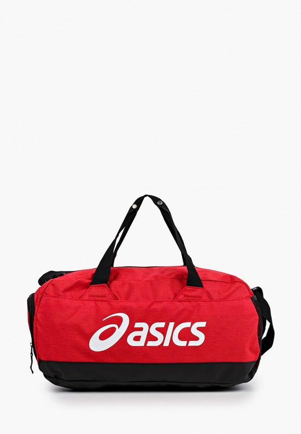 женская сумка asics, красная