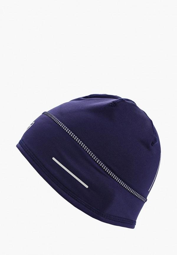 женская шапка asics, синяя