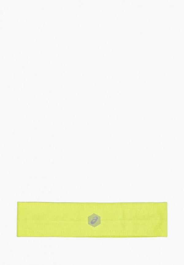 Фото - женскую повязку на голову ASICS желтого цвета