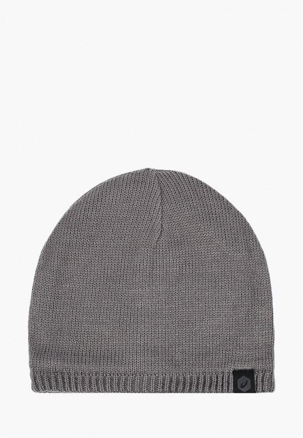 женская шапка asics, серая