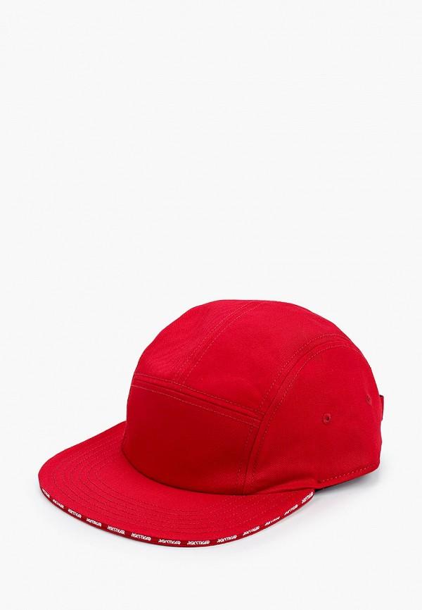 женская кепка asics, красная