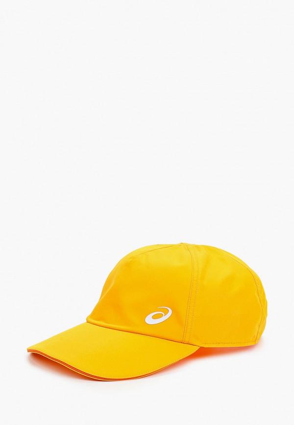 женская бейсболка asics, желтая