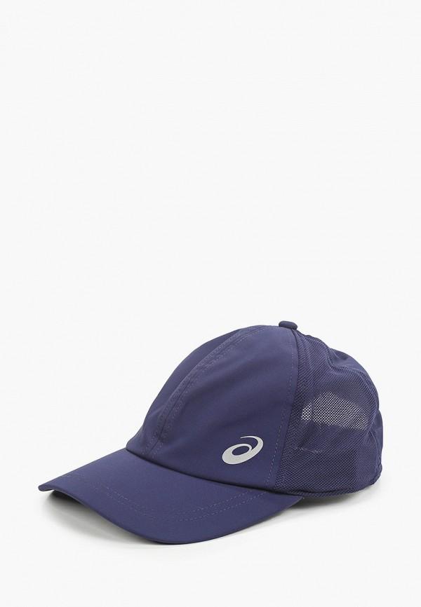 женская бейсболка asics, синяя