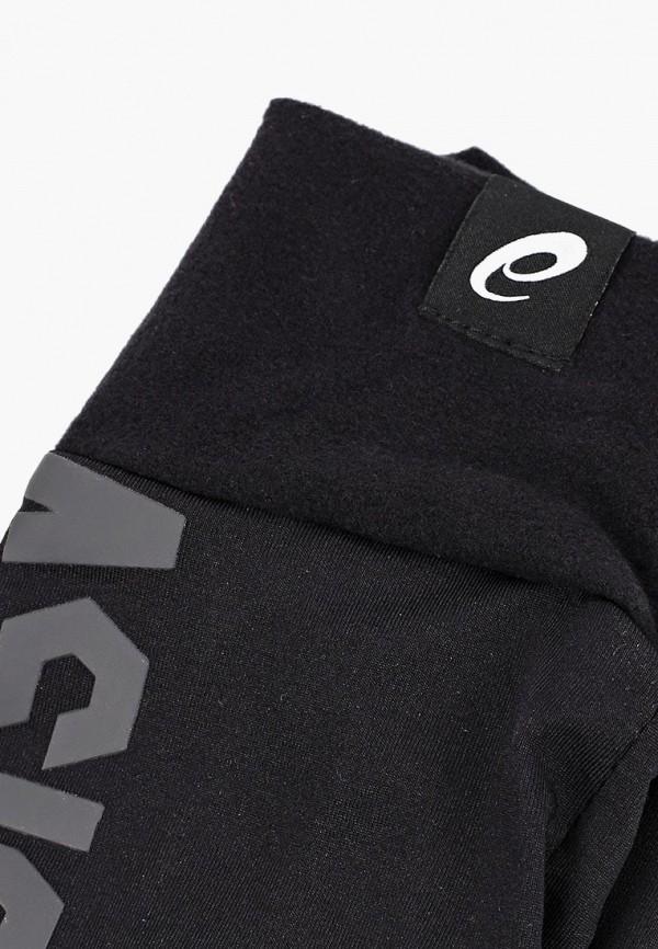 Фото 2 - Перчатки ASICS черного цвета