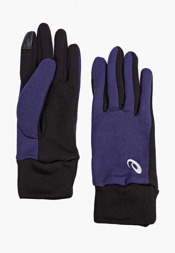 женские перчатки asics, синие